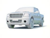 3d Samochodowy Biały Pusty szablon Zdjęcia Stock