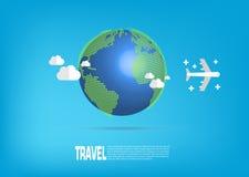 3d samolotowego tła ilustracyjny podróży biel Obrazy Royalty Free