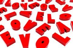 3d san Valentine Love Background Immagini Stock Libere da Diritti