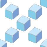 3d sans couture abstrait cube le modèle Photographie stock libre de droits