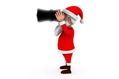 3d santa binocular concept Stock Image