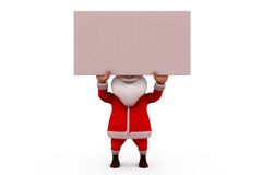 3d santa carry banner concept Royalty Free Stock Photos