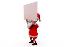 3d santa carry banner concept Royalty Free Stock Images