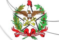 3D Santa Catarina Coat delle armi, Brasile royalty illustrazione gratis
