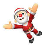 3D Santa character jumping. 3D Christmas Character Design Series Royalty Free Stock Photography