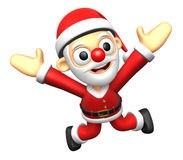 3D Santa character to be powerful and jumping. 3D Christmas Char Stock Photos