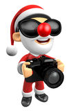 3D Santa characterto shoot the camera toward the Right. 3D Chris Stock Photos