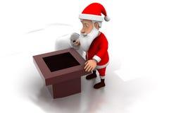 3d santa chimney concept Royalty Free Stock Images
