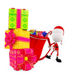 3d Santa for Christmas Stock Photos