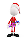 3d Santa for Christmas Royalty Free Stock Photo