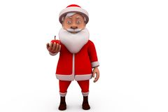 3d santa claus apple concept Stock Photos