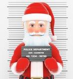 3D Santa Claus arrestó Foto de la policía criminal libre illustration