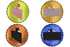 3d santa claus board icon Royalty Free Stock Image
