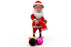 3d santa claus christmas light concept Stock Images