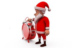3d santa claus clock concept Royalty Free Stock Photography