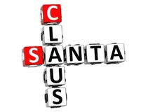 3D Santa Claus Crossword Lizenzfreies Stockbild