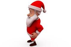 3d santa claus dance concept Stock Image