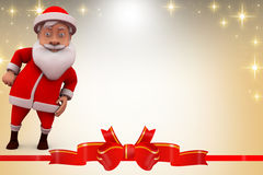 3d santa claus dance illustration Royalty Free Stock Images