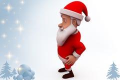 3d santa claus dance illustration Stock Images