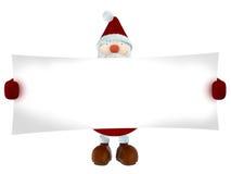 3D Santa Claus, die ein Weißbuch hält Lizenzfreie Stockfotos