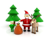 3d Santa Claus Royalty Free Stock Images