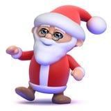 3d Santa Claus está bailando en el partido Foto de archivo libre de regalías
