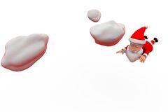 3d santa claus fly concept Royalty Free Stock Photos