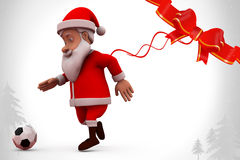 3d Santa Claus futbolu ilustracja Zdjęcie Royalty Free