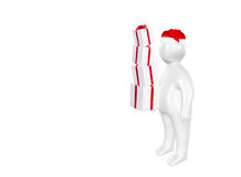 3D Santa Claus and gift boxes Royalty Free Stock Photography