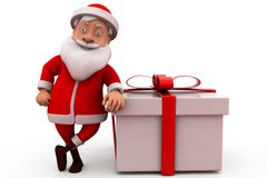 3d santa claus with gift concept Royalty Free Stock Photography
