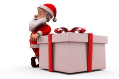 3d santa claus with gift concept Stock Image