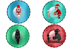 3d santa claus giving gift icon Royalty Free Stock Photos