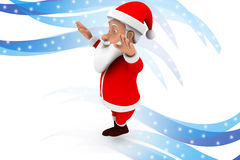 3d santa claus hand up illustration Royalty Free Stock Photography