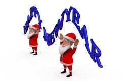 3d santa claus happy new year concept Royalty Free Stock Photo