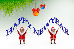 3d santa claus happy new year illustration Stock Images