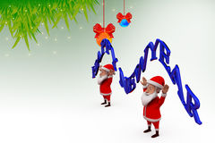 3d santa claus happy new year illustration Stock Image