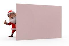 3d santa claus hide wall concept Stock Photos