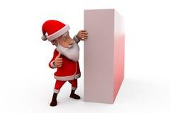3d santa claus hide wall concept Stock Images