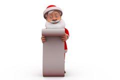 3d santa claus long list concept Stock Images