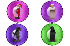 3d santa claus long list icon Royalty Free Stock Images