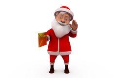 3d santa claus mail concept Royalty Free Stock Photos