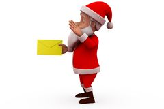 3d santa claus mail concept Stock Photos