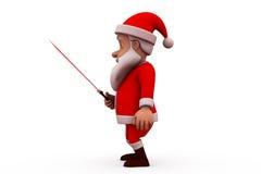 3d Santa Claus med svärdbegrepp Arkivbilder