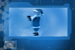 3d santa claus with mic concept Royalty Free Stock Images