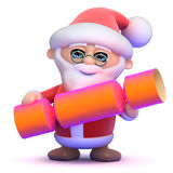 3d Santa Claus och smällkaramell Arkivbilder