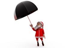 3d Santa Claus parasola pojęcie Zdjęcie Royalty Free