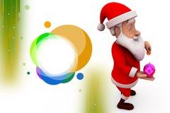 3d santa claus piggy bank illustration Royalty Free Stock Photography