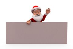 3d santa claus present poster concept Royalty Free Stock Image
