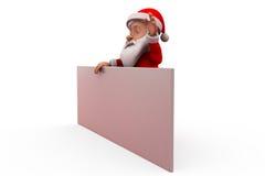 3d santa claus present poster concept Royalty Free Stock Photo