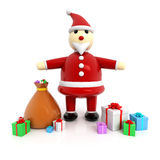 3d Santa Claus Stock Photos